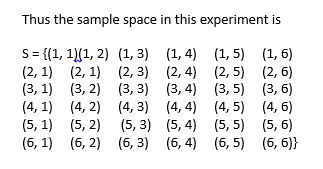 Sample space in probability